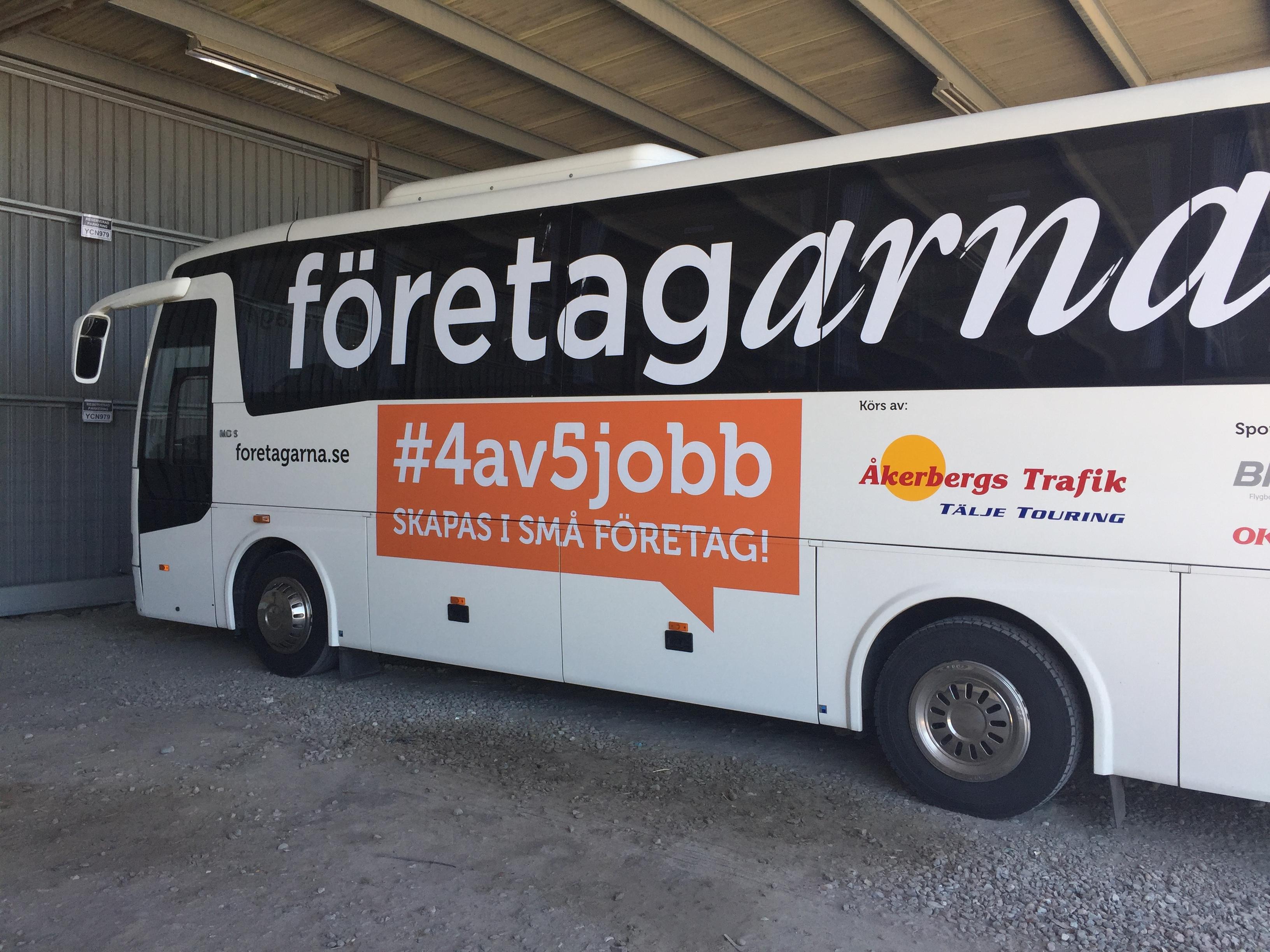 Bussen är Nu Hemma Efter Valturnén Och Almedals Veckan.
